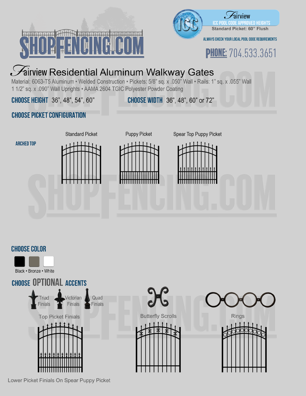 Residential Fairview Aluminum Walkway Gates From ShopFencing.com