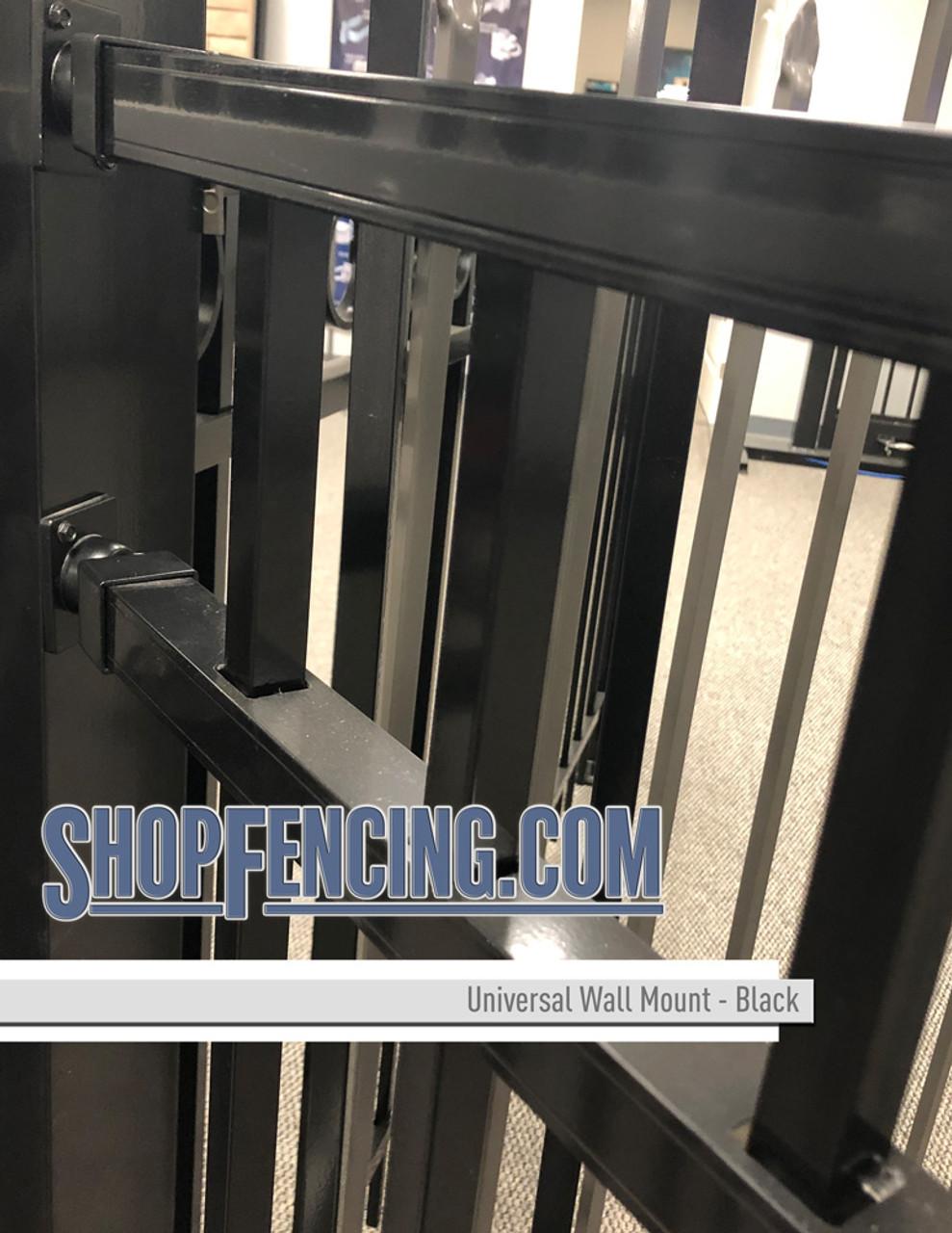 Black Aluminum Fence Universal Wall Mount