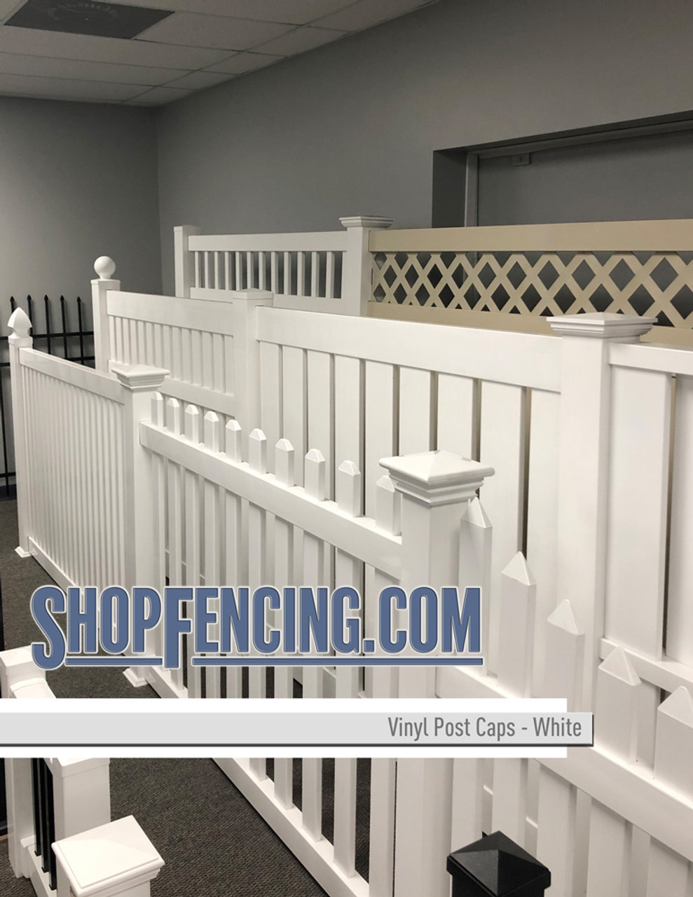 Vinyl Privacy Fence Posts & Caps From ShopFencing.com