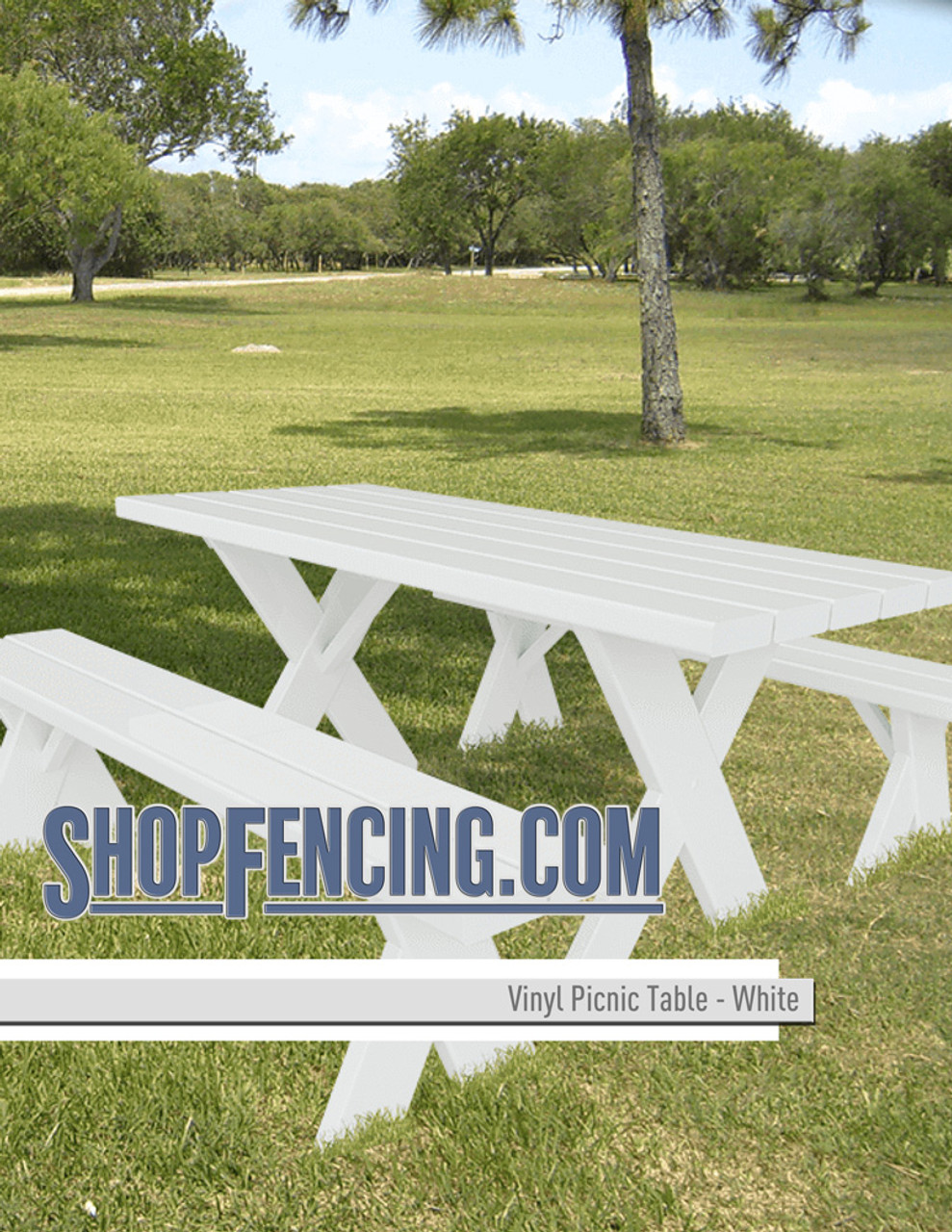 Vinyl Picnic Tables From ShopFencing.com