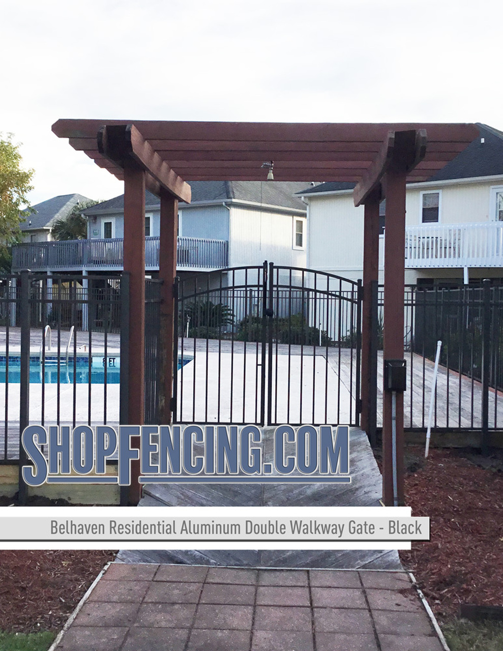 Residential Belhaven Aluminum Double Walkway Gate - Rainbow Arch From ShopFencing.com