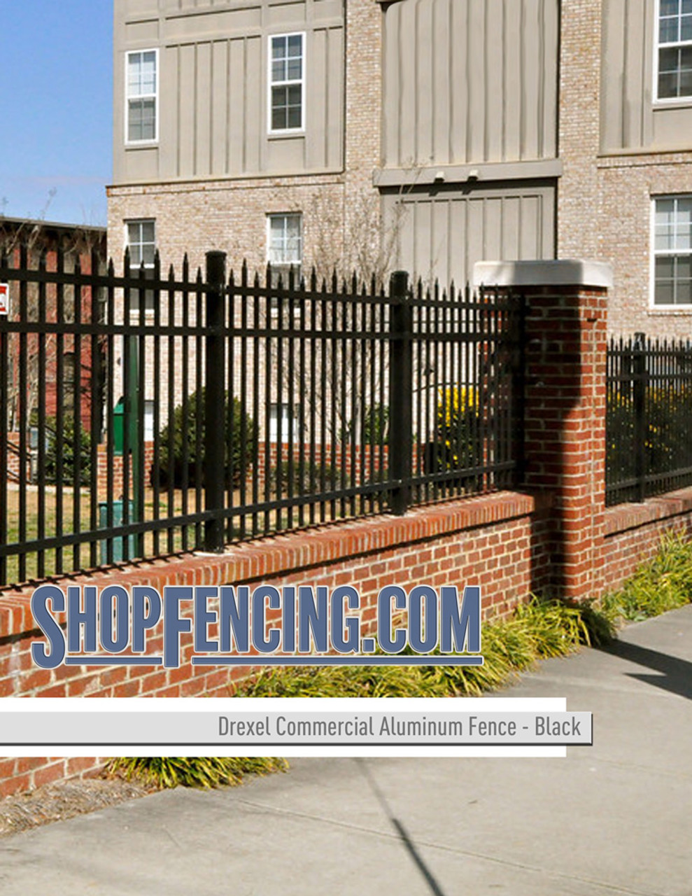 Black Commercial Drexel Aluminum Fencing From ShopFencing.com