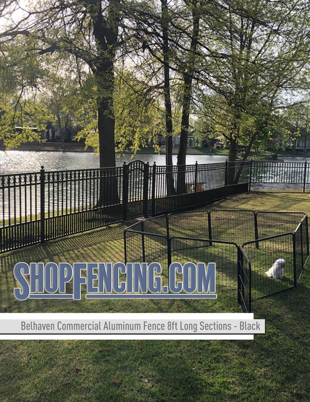 Black Commercial Belhaven Aluminum Fencing From ShopFencing.com
