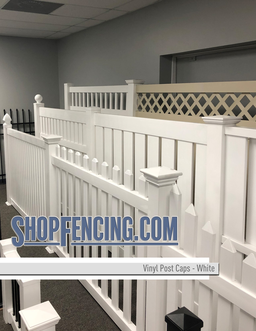 Vinyl Ranch Rail Fence Posts & Caps From ShopFencing.com