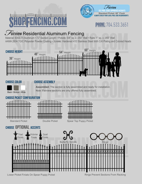 Fairview Residential Aluminum Fencing From ShopFencing.com
