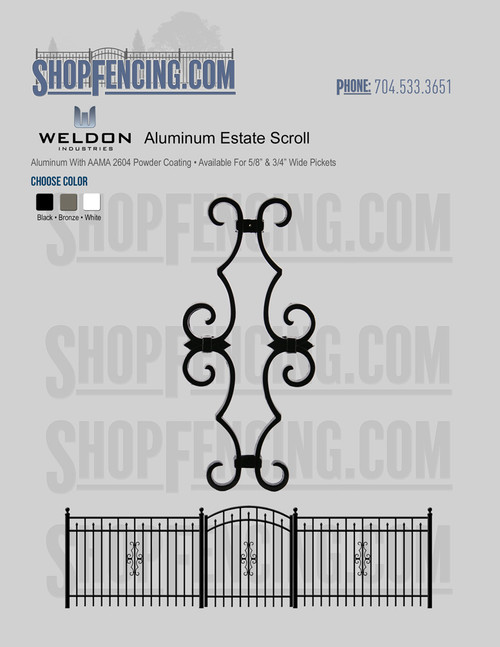 Aluminum Estate Scroll From ShopFencing.com