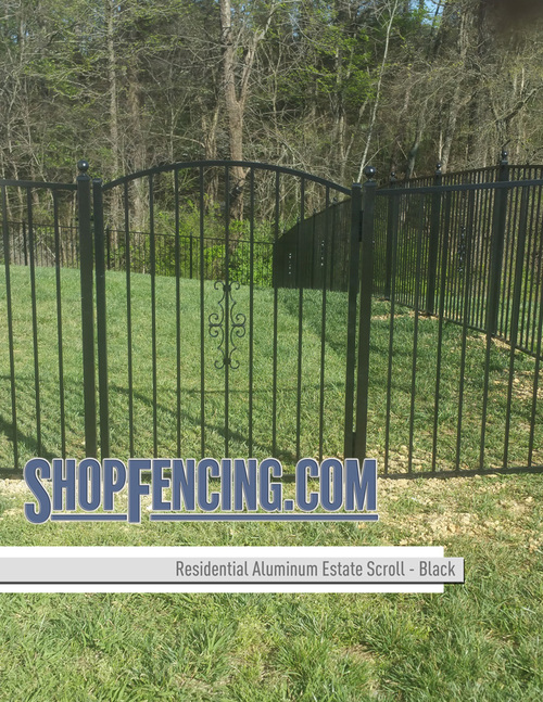 Black Aluminum Estate Scroll From ShopFencing.com