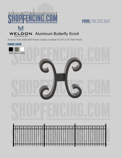 Aluminum Butterfly Scroll From ShopFencing.com