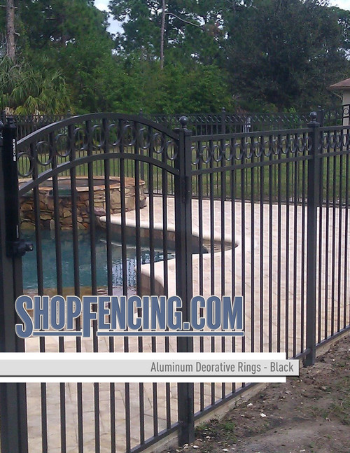 Black Aluminum Decorative Rings From ShopFencing.com