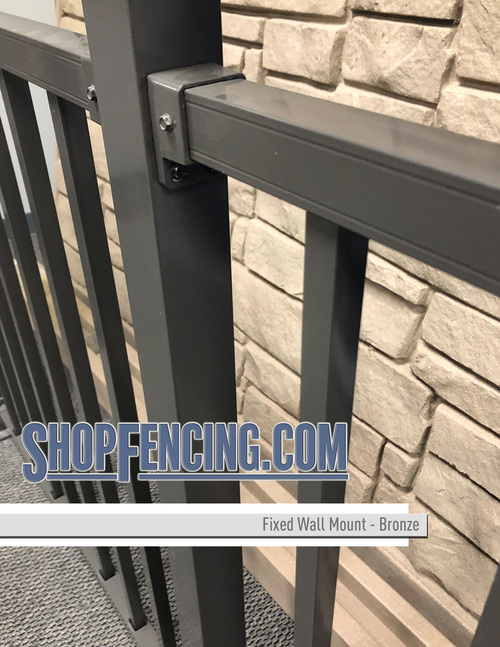 Bronze Aluminum Fence Fixed Wall Mount