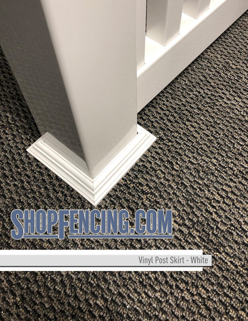 White Vinyl Post Skirt From ShopFencing.com