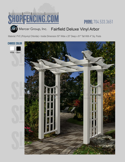 Vinyl Fairfield Deluxe Arbor From ShopFencing.com