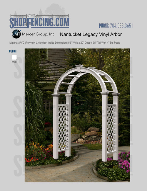 Vinyl Nantucket Legacy Arbor From ShopFencing.com