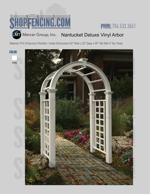 Vinyl Nantucket Deluxe Arbor From ShopFencing.com