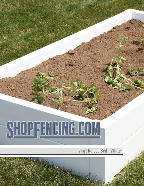 Vinyl Raised Beds From ShopFencing.com