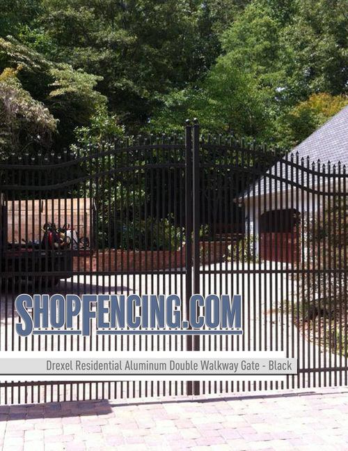 Residential Drexel Aluminum Double Walkway Gate - Estate Arch Double Picket From ShopFencing.com
