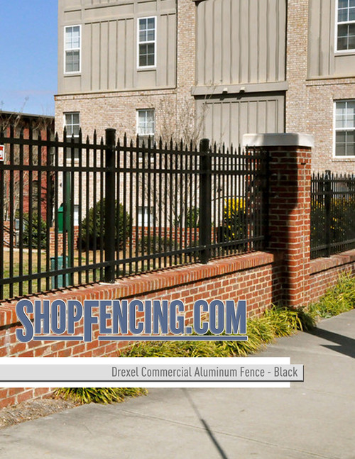 Black Commercial Drexel Aluminum Fencing From ShopFencing.com