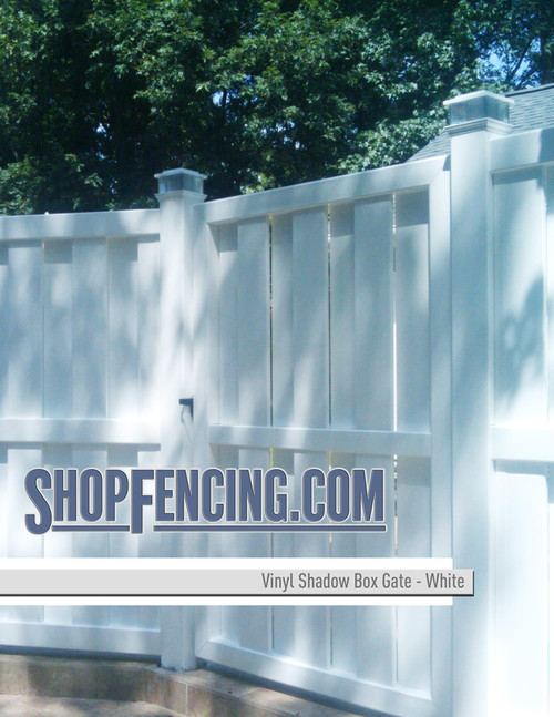 Shadow Box Vinyl Gates from Shopfencing.com