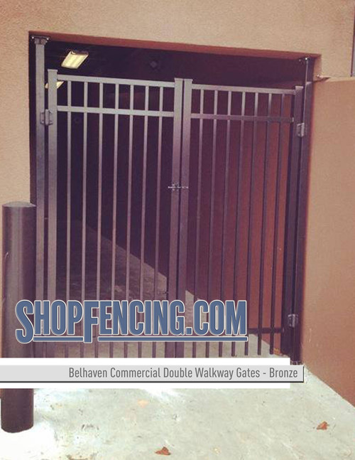 Commercial Grade Belhaven Double Walkway Gates in Bronze From ShopFencing.com