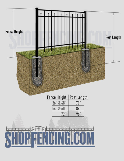 Aluminum Fence Posts For CLAREMONT Fence Styles