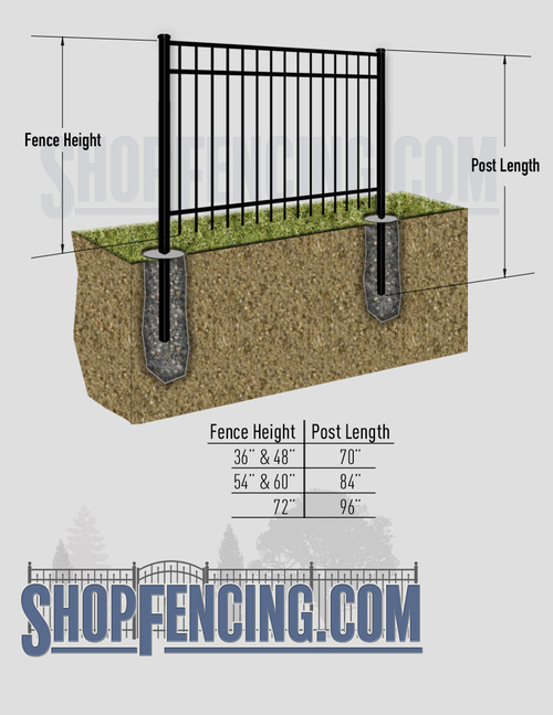 Aluminum Fence Posts For BELHAVEN Fence Styles