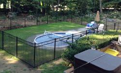 Style B Black Aluminum Pool Fence