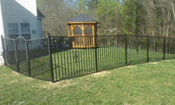 Style E 2 Rail Aluminum Fence
