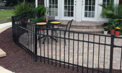 Style B Aluminum Fence With Wall Mounts
