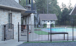 Style E 2 Rail Aluminum Pool Fence