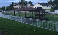 Style B White Aluminum Fence
