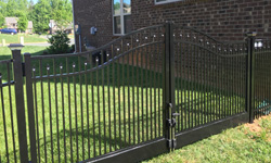 Style C Black Aluminum Gate