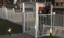 Style E 2 Rail White Aluminum Fence