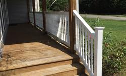 White Vinyl Handrail
