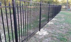 Style C Black Aluminum Fence