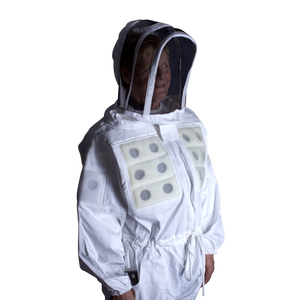 Vented Panel Bee Suit with Veil (Sizes S - 5XL)