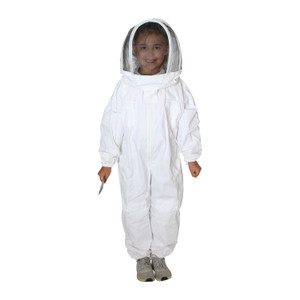 Children's White Bee Suit with Veil (Sizes XS and XL)