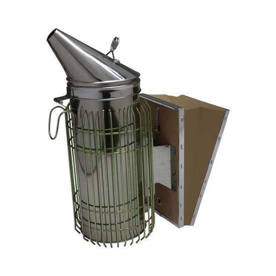 Tall Smoker Stainless with Grey Bellows - Funnel Top