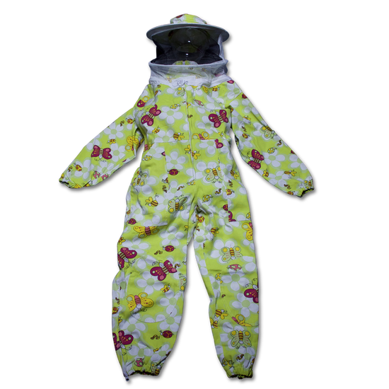 Children's Green Bee Suit with Veil (Sizes XS and S)
