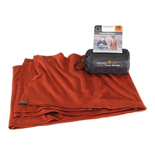 Merino Wool and Silk Travel Blanket