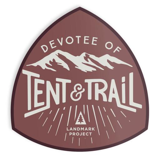 Devotee of Tent & Trail Sticker
