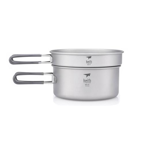 2-Piece Titanium Pot and Pan Cook Set
