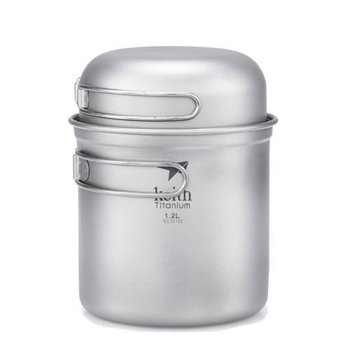 2-Piece Titanium Pot and Bowl Set