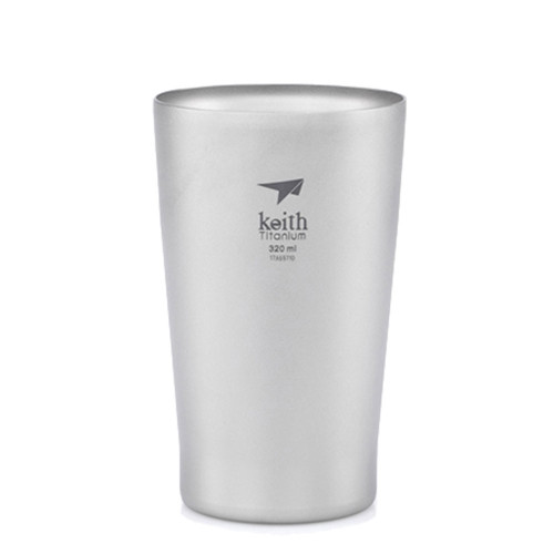 Double-Wall Titanium Beer Cup