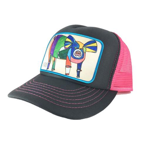 Adult Foam Trucker Hat - Pig
