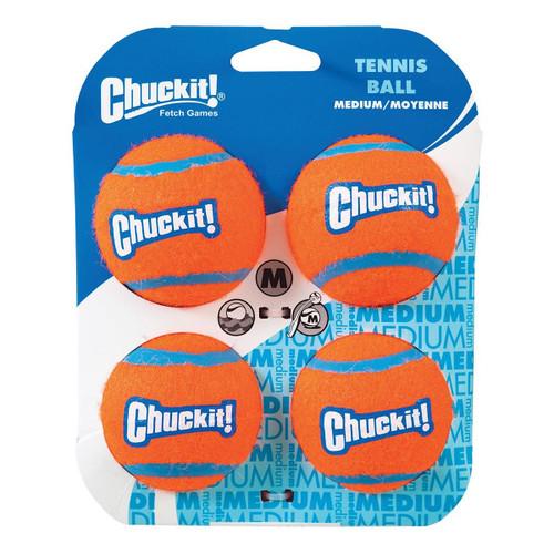 Chuckit Tennis Ball 4-Pack - Medium