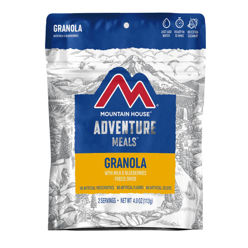 Granola with Milk & Blueberries