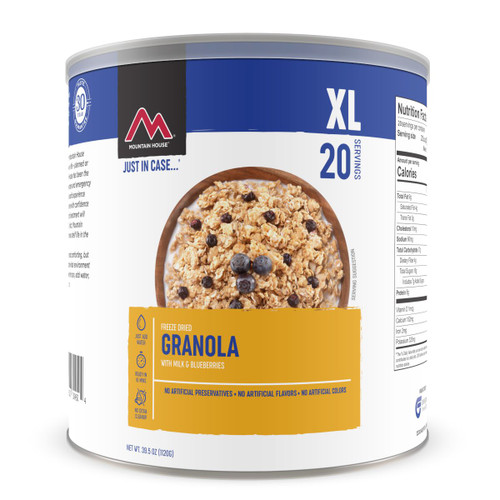 Granola with Milk and Blueberries - No. 10 Can