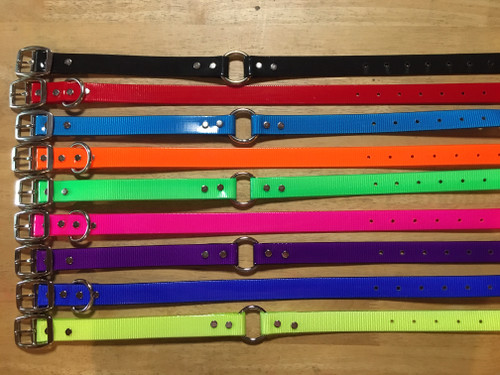 A. DAY GLO COLLAR NICKEL PLATED