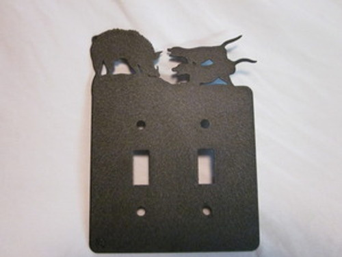 HOG DOG SWITCH PLATE COVER (DOUBLE)