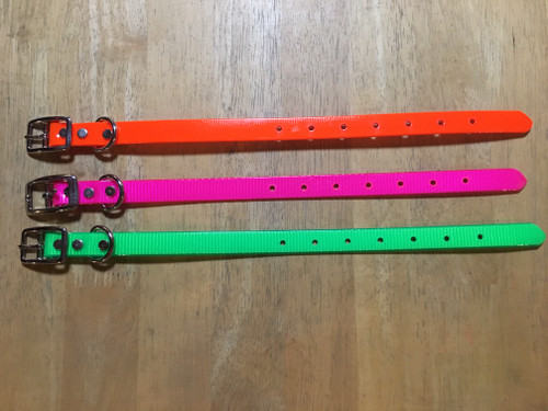 """A5. 3/4"""" DAY GLO PUPPY OR SMALL DOG COLLAR"""